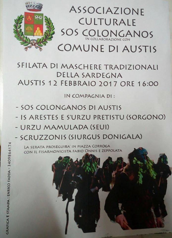 CARNEVALE 2017 - SFILATA DI MASCHERE TRADIZIONALI DELLA SARDEGNA