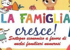 La famiglia cresce - Sostegno economico ai nuclei familiari numerosi