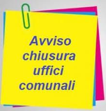 CHIUSURA UFFICI COMUNALI GIORNATA DEL 2 NOVEMBRE 2018