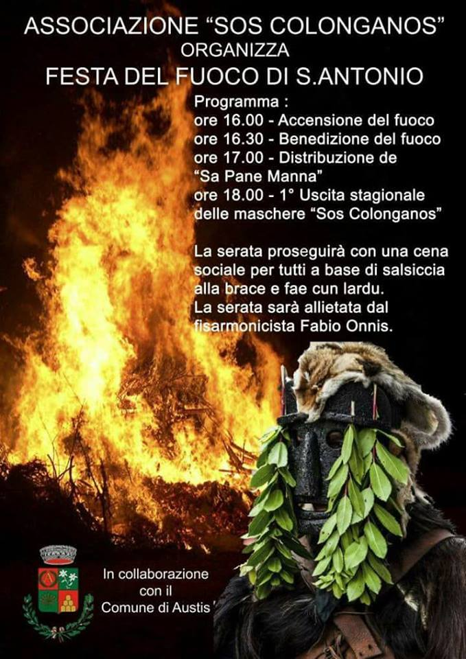 FESTEGGIAMENTI IN ONORE DI SANT'ANTONIO ABATE 2018 E PRIMA USCITA  DE SOS COLONGANOS