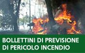 Bollettini di previsione di pericolo incendio